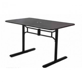 Wrought Iron Restaurant Tables Rectangle Mesh Top Table
