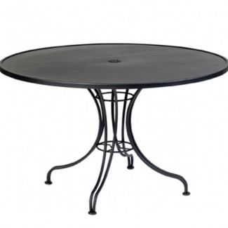 "Solid 48"" Round Umbrella Table - Ornate Base"
