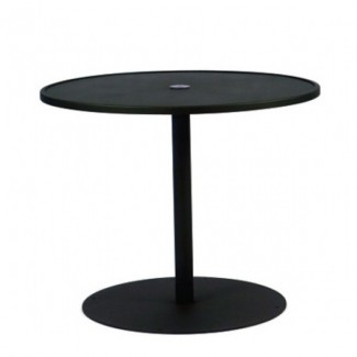Wrought Iron Restaurant Tables Solid Pedestal 48