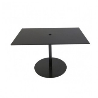 "Solid 30"" x 48"" Rectangular Umbrella Table - Pedestal Base"