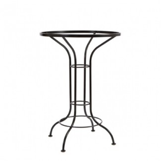 Universal Wrought Iron Bar Height Table Base