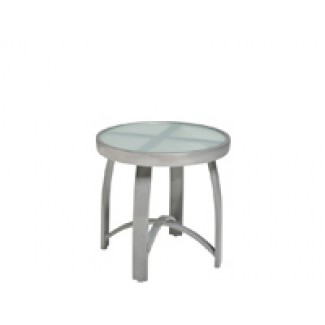 Wyatt 18' Round End Table - Frosted Glass 566604