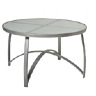 "Wyatt 48"" Round Umbrella Dining Table - Frosted Glass 566648"