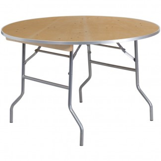 XA-48-BIRCH-M-GG 48 inch round commercial banquet hotel hospitality folding table