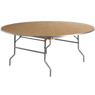 XA-72-BIRCH-M-GG 72 inch round commercial banquet hotel hospitality folding table