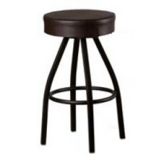 XL Button Top Bar Stool with Black Powder Coat Frame SL3132