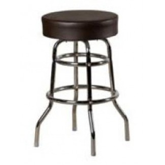 XL Button Top Bar Stool with Double Rung Chrome Frame SL3129