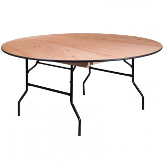YT-WRFT66-TBL-GG 66 inch round commercial banquet hotel hospitality folding table
