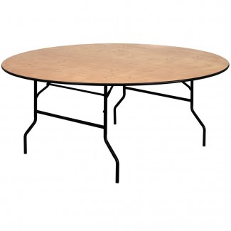 YT-WRFT72-TBL-GG 72 inch round commercial banquet hotel hospitality folding table
