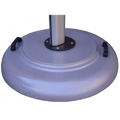 150 lb Free-Standing Round Aluminum Umbrella Base with Wheels Kit
