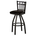 3 X Vertical Back Swivel Metal Bar Stool SL2164-S