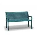 4' Plastisol Bench with Back