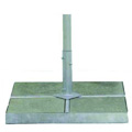 400 lb Free-Standing Square Pan Umbrella Base with Cover Kit