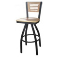 5 Line Wood Back Swivel Metal Bar Stool SL2150-1S-5