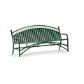 6' Arched Back Commerical Steel Bench - Powder Coated M711-6