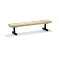 6' In-Ground Mount Backless Commercial Bench - Douglas Fir M127-6