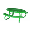 6' Oval Plastisol Portable Table