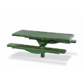 6' Plastisol Single Pedestal In-Ground ADA Compliant Picnic Table