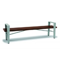 8' Faux Wood Backless Bench with Arms