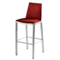 Micah Bar Stool with Upholstered Seat and Inner Back