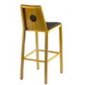 Micah Full Moon Picture Back Side Chair with Upholstered Seat and Inner Back