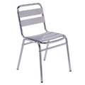Aluminum Stacking Side Chair with Aluminum Slats