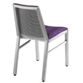 Aluminum Side Chair with Upholstered Seat, Back and Waffle Back Design