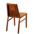 Micah Mini Squares Picture Back Side Chair with Upholstered Seat and Back