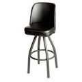 American Made Black Bucket Bar Stool with Black Powder Coat Frame SL3136-BLK