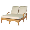 Avignon Adjustable Double Chaise Lounge with 4