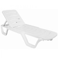Bahama Resin Stacking Sunlounger - White