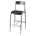 Bar Stool with Upholstered Seat and Metal Back 187