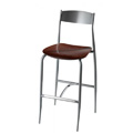 Bar Stool with Wood Seat and Metal Back 187WS