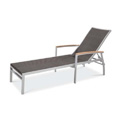 Bayhead Sun Lounger with Arms - Woven Wicker SYNTHETIC WICKER
