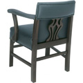 Beechwood Arm Chair with Upholstered Arms WC-1023UR