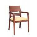 Beechwood Arm Chair with Upholstered Seat CFC-AD-666