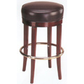 European Beech Solid Wood Upholstery Restaurant Bar Stools Beechwood Backless Bar Stool 3170P