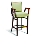 Beech Wood Bar Stool CC115 Series with Arms and Wrapped Sides