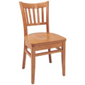 Beechwood Side Chair WC-589VR All Wood