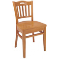 Beechwood Side Chair WC-755VR All Wood