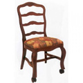 Beechwood Side Chair with Casters WC-903UR