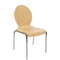 Moderne Stacking Bentwood Side Chair S10-RD