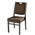 Bolero Edge Back Aluminum Nesting Side Chair with Handgrip