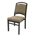 Bolero Curve Back Aluminum Nesting Side Chair with Handgrip Bar