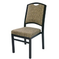 Bolero Curve Back Aluminum Nesting Side Chair with Handgrip