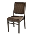 Bolero Edge Back Aluminum Nesting Side Chair