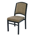 Bolero Curve Back Aluminum Nesting Side Chair