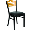 Bullseye 3-Line Wood Back Dining Chair