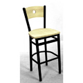 Bullseye Wood Back Bar Stool SL2150-1-B