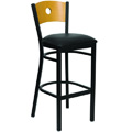 Bullseye Wood Back Bar Stool XU-DG-6F6B-CIR-BAR